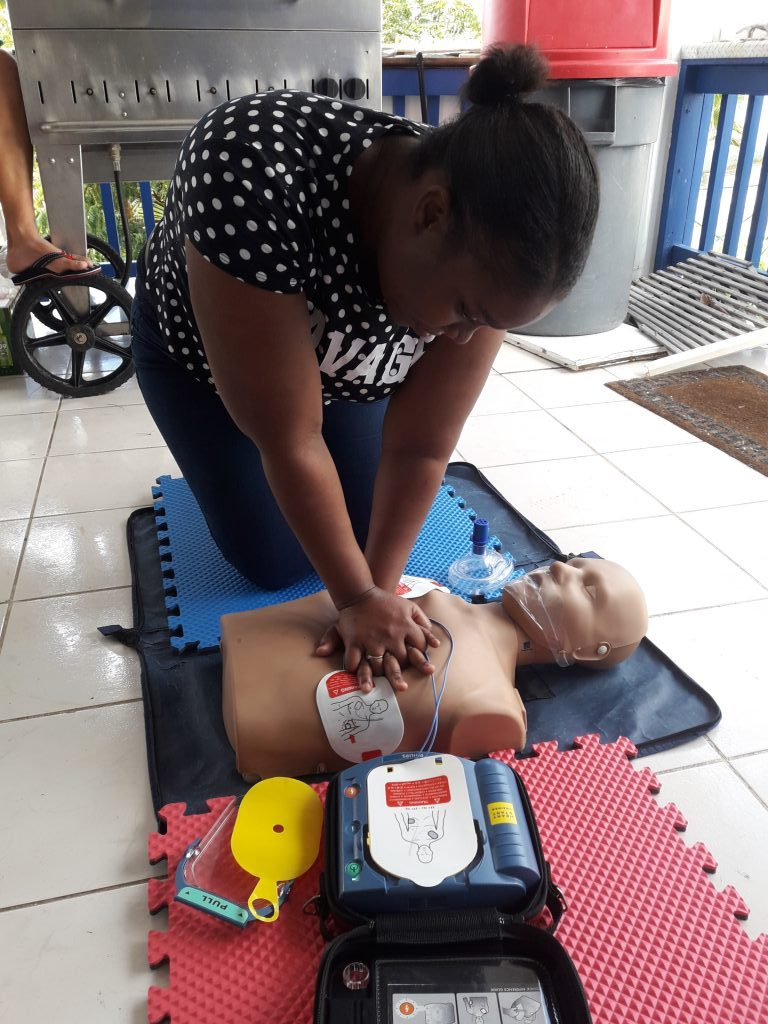 16. Continue CPR with 30 chest compressions..