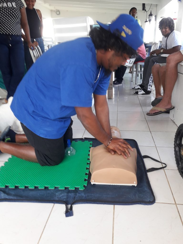 3. Start chest compressions